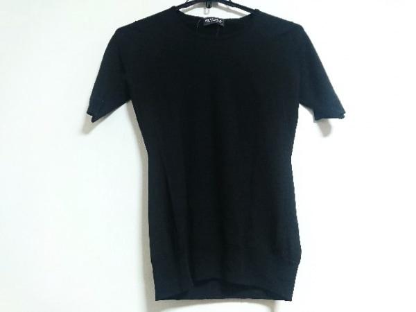 JOHN SMEDLEY(ジョンスメドレー) 半袖セーター サイズS レディース 黒