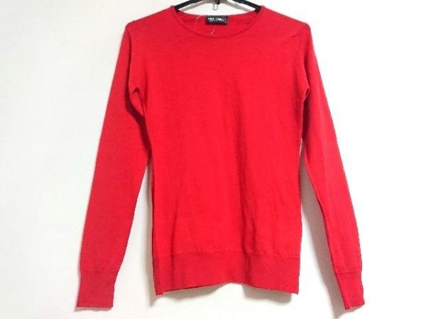 JOHN SMEDLEY(ジョンスメドレー) 長袖セーター サイズS レディース新品同様  レッド