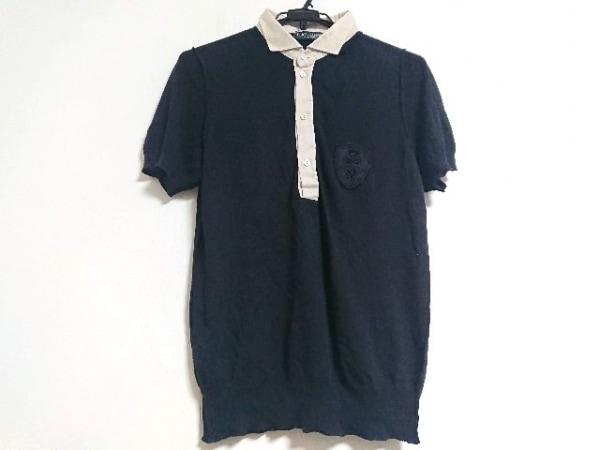 ドルチェアンドガッバーナ 半袖ポロシャツ サイズ44 S メンズ美品  黒×ベージュ