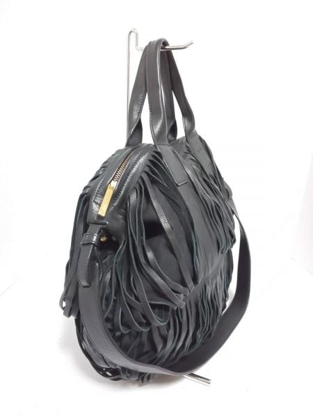 LUPO(ルポ) ハンドバッグ美品  黒 2way レザー