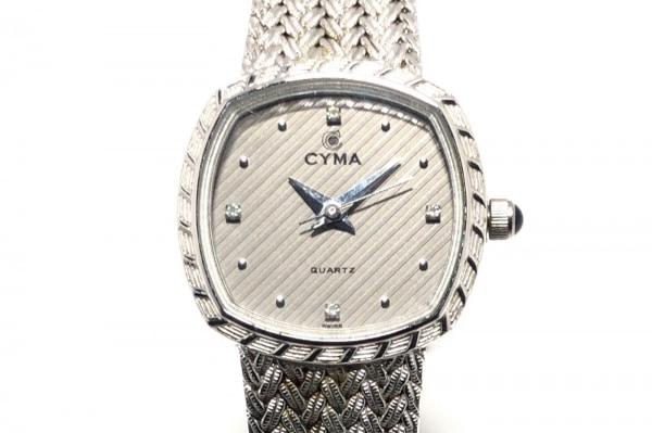 CYMA(シーマ) 腕時計 616 レディース ラインストーン グレー