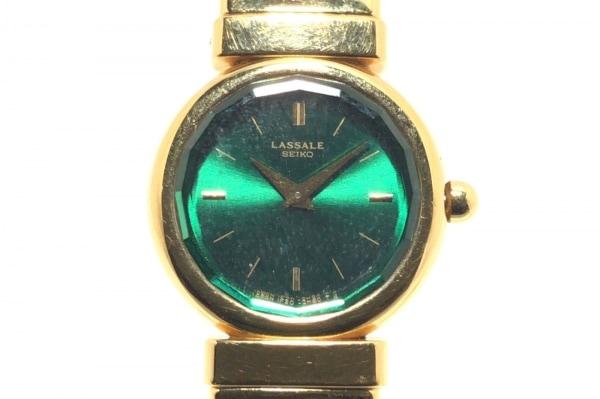 SEIKO LASSALE(セイコーラサール) 腕時計 1F20-1B60 レディース ビジュー グリーン