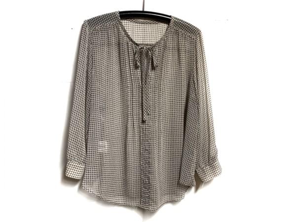 23区(ニジュウサンク) 長袖カットソー サイズ46 XL レディース 白×黒