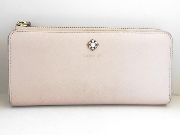 4℃(ヨンドシー) 長財布 ピンクベージュ Luria 4℃/ビジュー 合皮