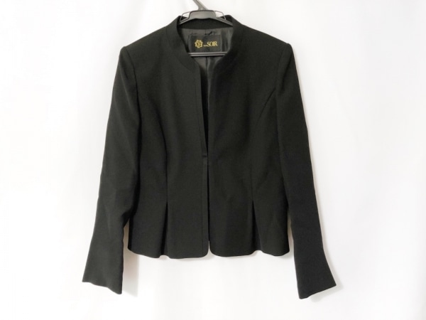 Tokyo Soir(トウキョウソワール) ワンピーススーツ サイズ7 S レディース美品  黒