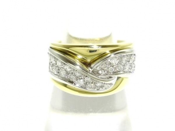 DAMIANI(ダミアーニ) リング美品  K18YG×K18WG×ダイヤモンド 0.55カラット
