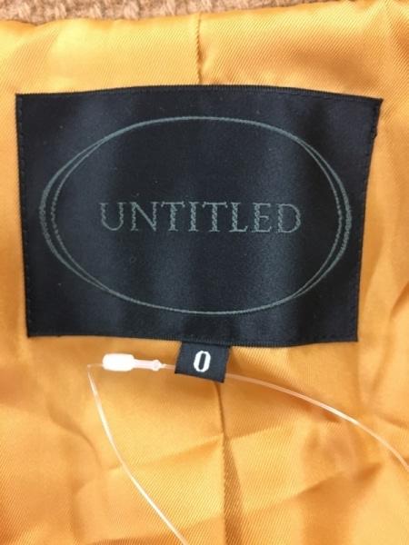 UNTITLED(アンタイトル) コート サイズ0 XS レディース美品  ライトブラウン