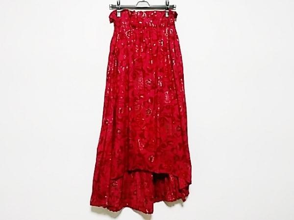 ヨウジヤマモト ロングスカート サイズ3 L レディース美品  ピンク フラワー