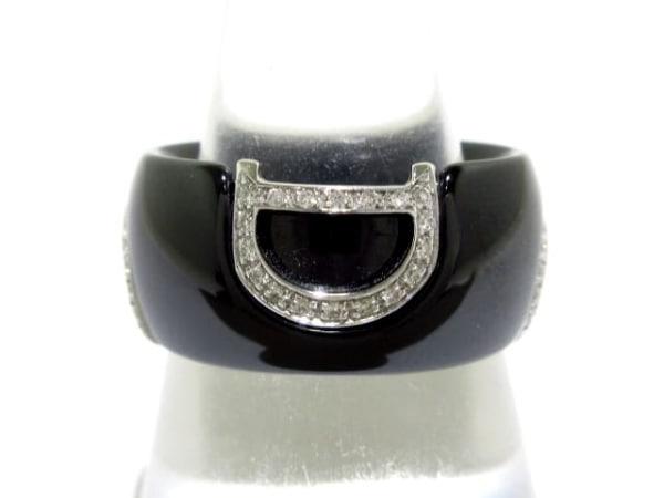 ダミアーニ リング美品  ディーアイコン 20045897 セラミック×K18WG×ダイヤモンド
