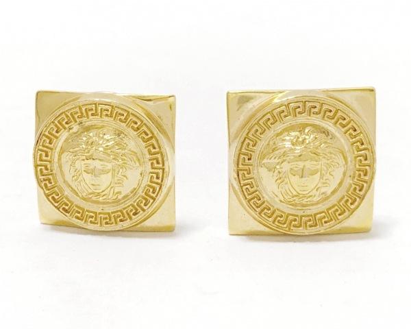 GIANNIVERSACE(ジャンニヴェルサーチ) イヤリング 金属素材 ゴールド