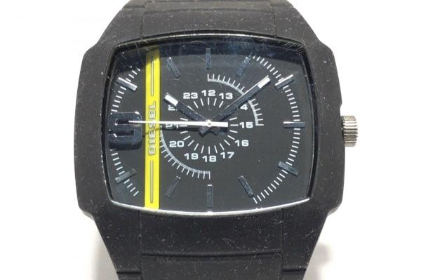 DIESEL(ディーゼル) 腕時計 DZ-1322 メンズ ラバーベルト 黒