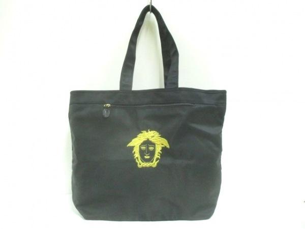 ジャンニヴェルサーチ ショルダーバッグ 黒×ゴールド COUTURE/メデューサ刺繍