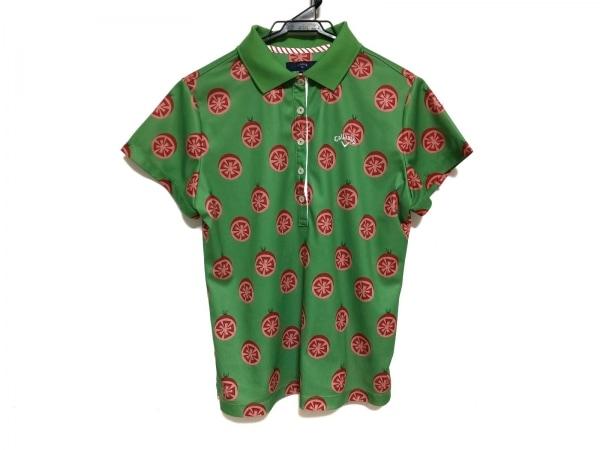CALLAWAY(キャロウェイ) 半袖ポロシャツ サイズLL レディース美品  グリーン×レッド