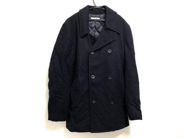 ユナイテッドアローズ コート サイズL メンズ美品  ダークネイビー ショート丈/冬物