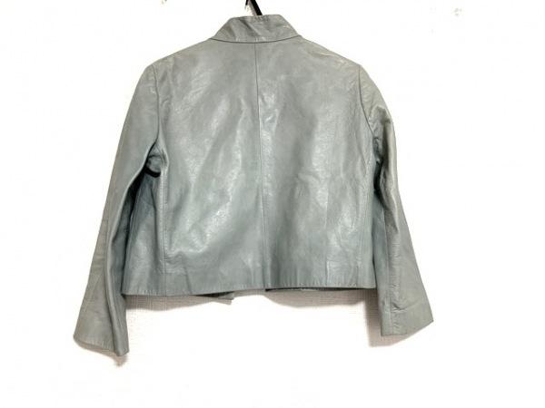 LOEWE(ロエベ) ジャケット サイズ38 M レディース ライトグレー レザー