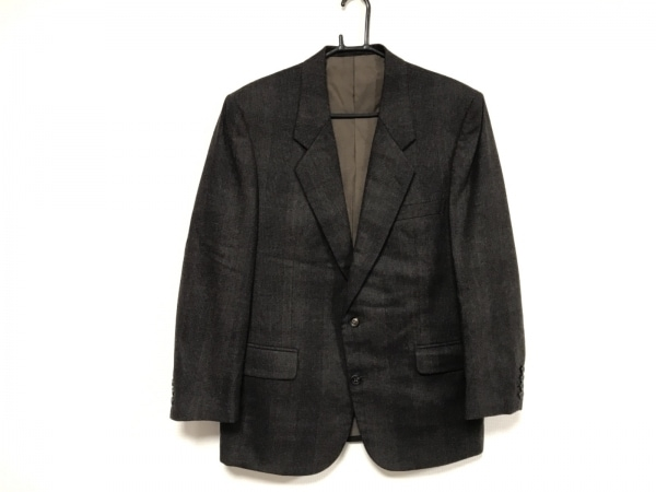 クリスチャンディオールムッシュ ジャケット メンズ美品  黒×ダークブラウン