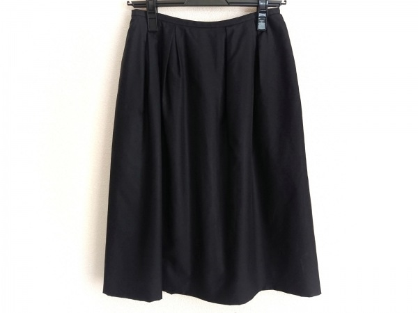 FOXEY(フォクシー) スカート サイズ40 M レディース 黒 シルク