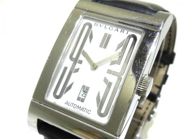 100% authentic 22996 f02e6 BVLGARI(ブルガリ) 腕時計 レッタンゴロ RT45S メンズ 白