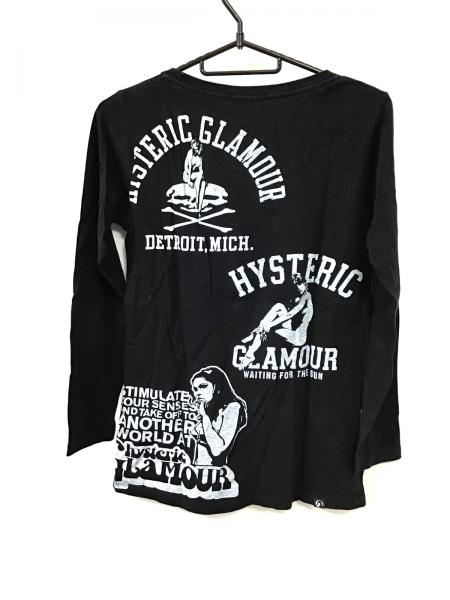 ヒステリックグラマー 長袖Tシャツ サイズF レディース 黒×ライトグレー