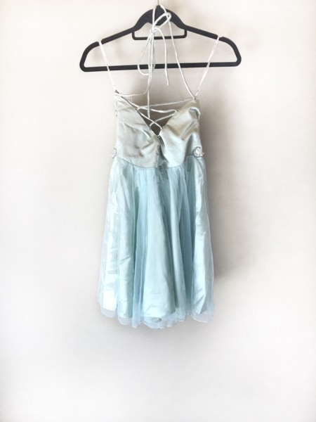 クリーム ドレス サイズF レディース美品  ライトグリーン×ライトブルー×マルチ
