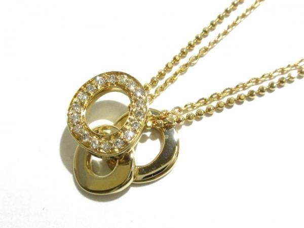 RUGIADA(ルジアダ) ネックレス美品  K18YG×ダイヤモンド 18Pダイヤ