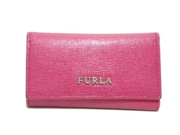 FURLA(フルラ) キーケース ピンク 5連フック レザー