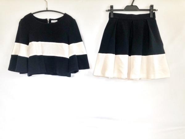 enrecre(アンレクレ) スカートセットアップ レディース美品  紺×白
