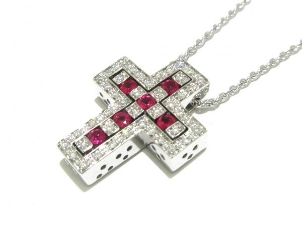 ダミアーニ ネックレス美品  ベルエポック K18WG×ダイヤモンド×ルビー ピンク