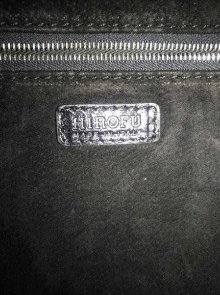 HIROFU(ヒロフ) ハンドバッグ 黒 レザー