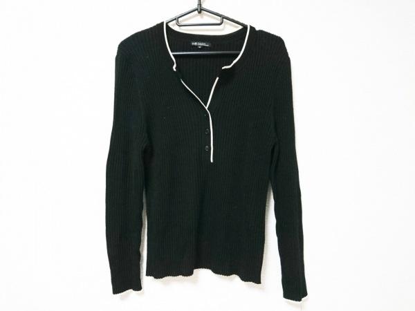 23区(ニジュウサンク) 長袖セーター サイズ46 XL レディース 黒×白