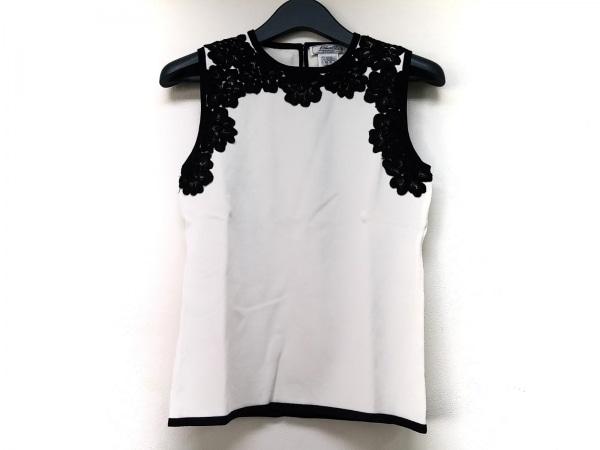 ETINCELLE(エタンセル) ノースリーブカットソー レディース 白×黒 フラワー