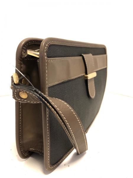 ダンヒル セカンドバッグ美品  カーキ×ダークブラウン PVC(塩化ビニール)×レザー