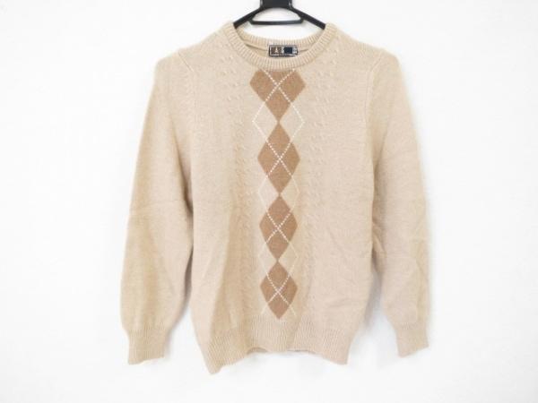 DAKS(ダックス) 長袖セーター サイズM レディース美品  ライトブラウン×ブラウン