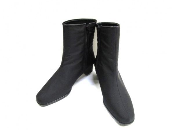 ギンザヨシノヤ ショートブーツ 23 レディース 黒 GORE-TEX 化学繊維