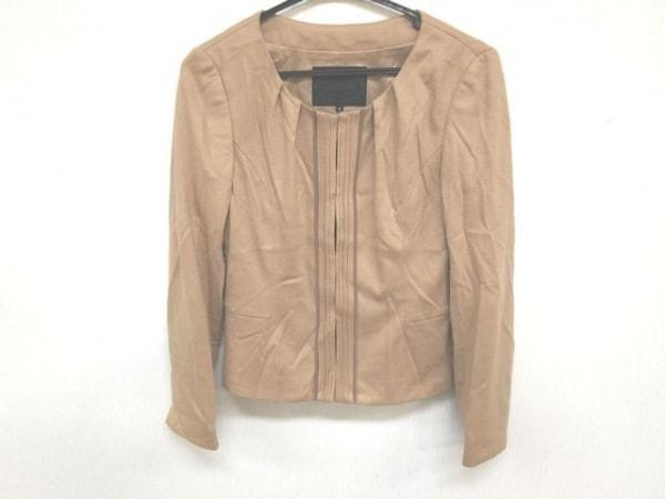 アンタイトル ジャケット サイズ2 M レディース美品  ベージュ×ダークブラウン