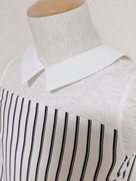 LOVELESS(ラブレス) ノースリーブカットソー サイズ36 S レディース新品同様  白×黒