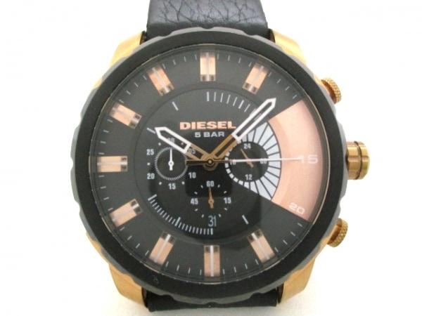 DIESEL(ディーゼル) 腕時計 DZ-4347 メンズ 黒×ピンクゴールド