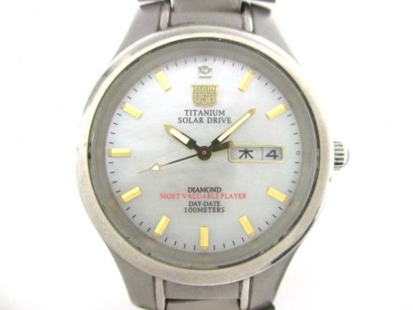 ELGIN(エルジン) 腕時計 FK-1251-C メンズ シェルホワイト