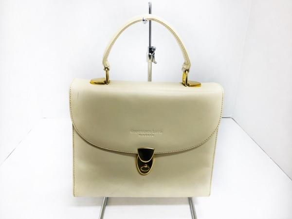 GIANFRANCO LOTTI(ジャンフランコロッティ) ハンドバッグ美品  アイボリー レザー