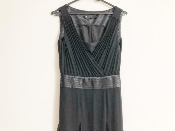 ノーベスパジオ ドレス サイズ38 M レディース美品  黒 カシュクール/プリーツ/フリル