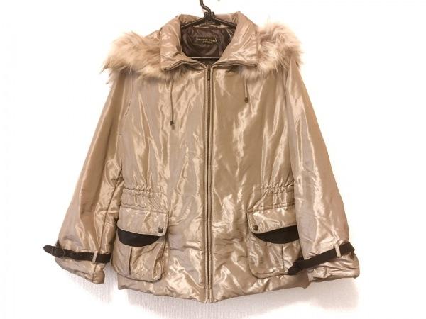 ハンティングワールド ダウンジャケット サイズ42 L レディース ベージュ 冬物/ファー