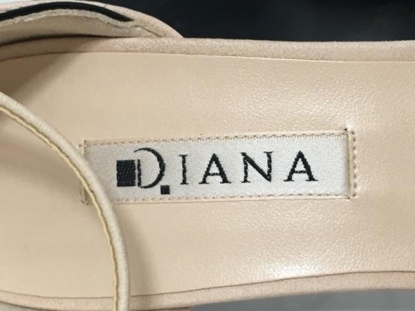 DIANA(ダイアナ) サンダル 23 2/1 レディース美品  ベージュ×黒