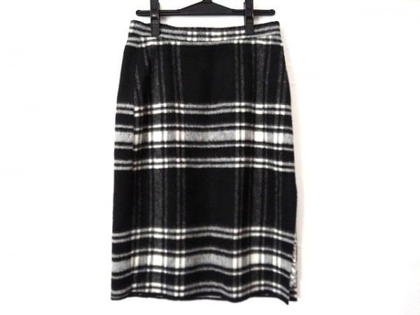 パオラ フラーニ スカート サイズ40 M レディース新品同様  黒×白 チェック柄