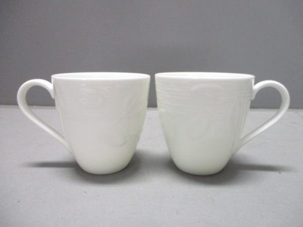 TIFFANY&Co.(ティファニー) マグカップ新品同様  Terrace 白 マグカップ×2 陶器