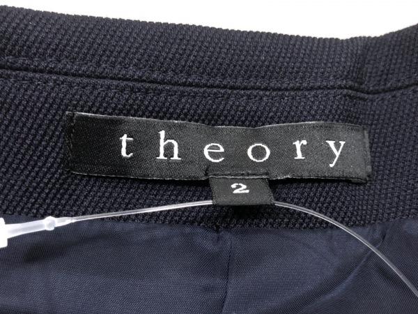 theory(セオリー) ジャケット サイズ2 S レディース ダークネイビー 肩パッド