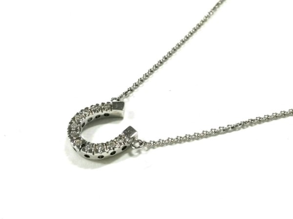 STAR JEWELRY(スタージュエリー) ネックレス美品  K18WG×ダイヤモンド 11Pダイヤ