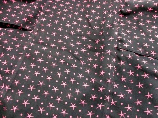シャネル ワンピース サイズ36 S レディース美品  ピンク×黒 シルク/星柄/ティアード
