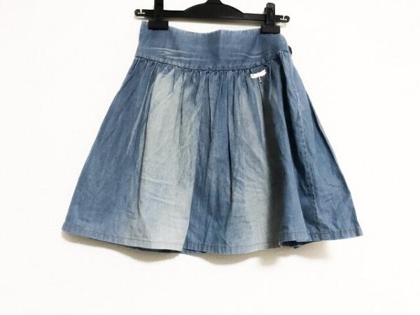 galliano(ガリアーノ) スカート サイズ22/36 レディース美品  ブルー ダメージ加工