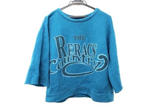 THE RERACS(リラクス) 長袖Tシャツ サイズ48 XL レディース ブルー×ライトブルー×黒