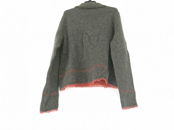 SENSO-UNICO(センソユニコ) 長袖セーター サイズ38 M レディース カーキ×レッド